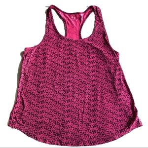 Gap fit racerback in red and pink print